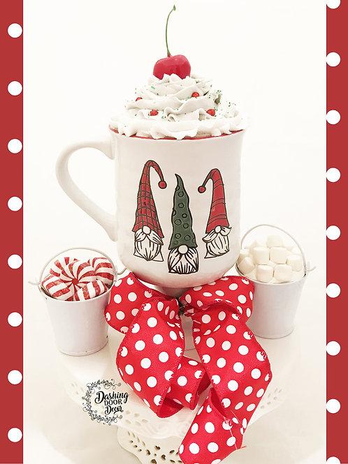 Fake Food Hot Cocoa Christmas Gnomes Mug