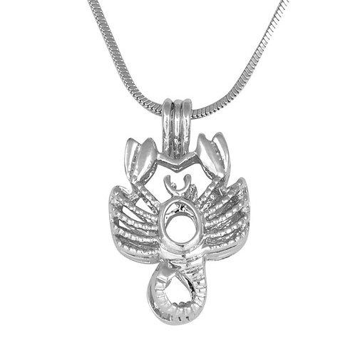 Scorpio Zodiac Pearl Pendant