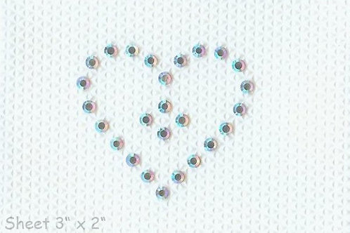 Swarovski Crystal Tattoo Single Heart (pack of 5)