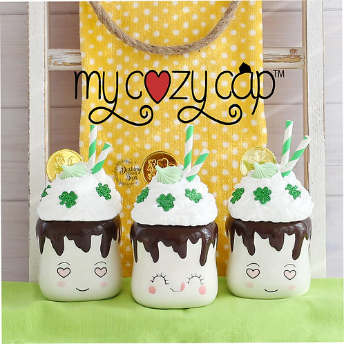 My Cozy Cap™ St Patrick's Day Faux Whip Mug Topper for Marshmallow Mugs