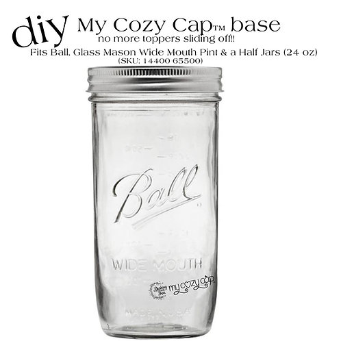 DIY My Cozy Cap™ Base fits Wide Mouth Mason Jars (14400 65500)