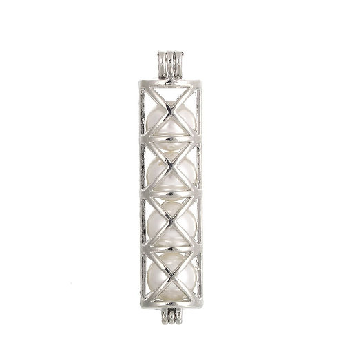 Cross Tower Pearl Pendant