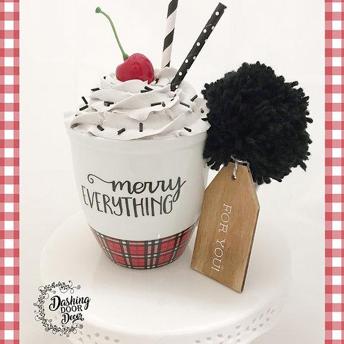 Fake Food Hot Cocoa Christmas Merry Everything Mug