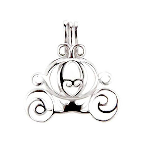 Cinderella Carriage Pearl Pendant