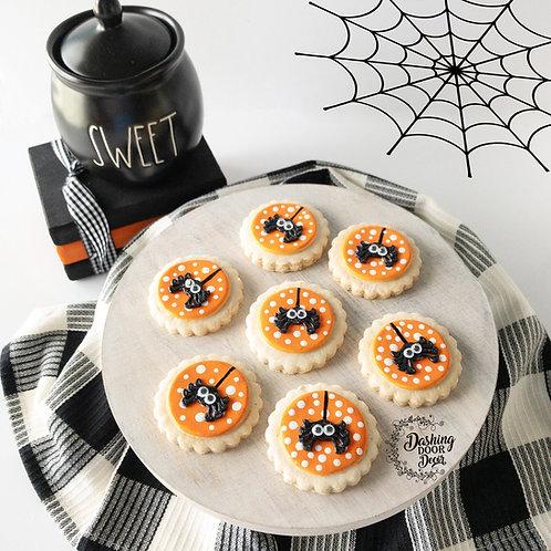 Fake Bake Spider Sugar Cookies for Display