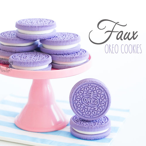 Faux Purple Oreo Cookies for Display
