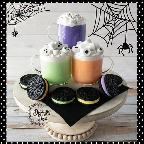 Fake Halloween Hot Cocoa Witches Brew Decor/ Display