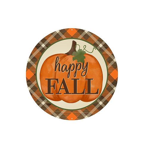 Metal Happy Fall/Pumpkin Sign