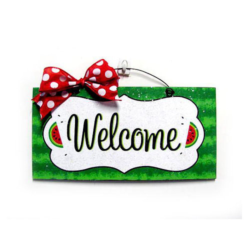 Watermelon Welcome Sign