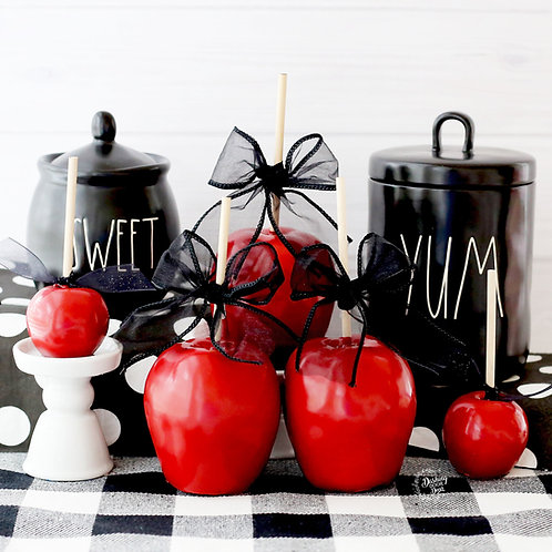 FAKE Red Poison Candy Apples for Decor/ Display