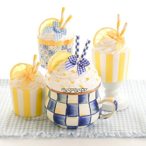 My Cozy Cap™  Lemon Faux Whip Mug Topper Fits Mackenzie Child's Brand Mug