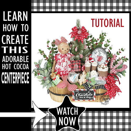 DIY Tutorial - Hot Chocolate-Cocoa Kisses Christmas Centerpiece