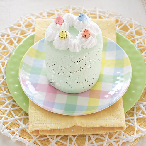 Faux Speckled Easter Egg Cake for Display