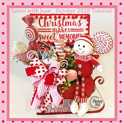 Whimsical Christmas Makes Sweet Memories Candy Centerpiece