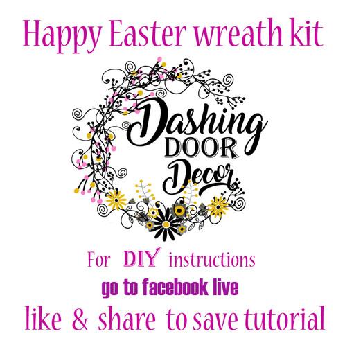 Facebook live happy easter wreath kit diy dashingdoordecor 2 18 18 facebook live happy easter wreath kit diy do it yourself kit solutioingenieria Gallery