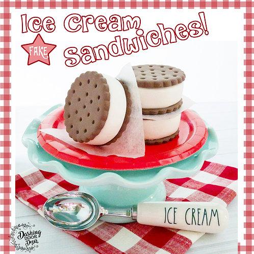 Fake Ice Cream Sandwich for Decor/ Display