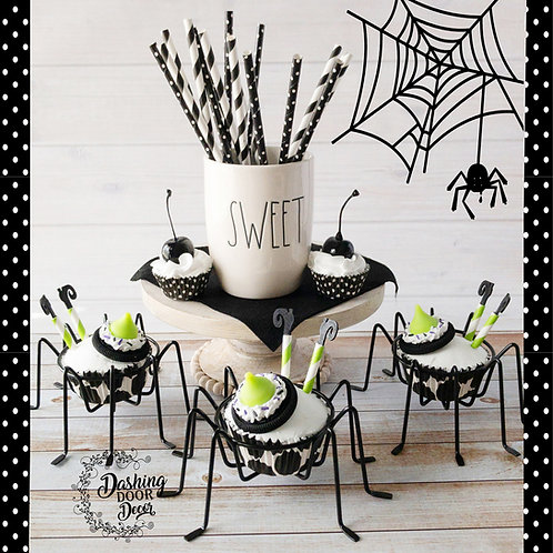 Fake Halloween Green Witch Fake Cupcakes Decor/Display