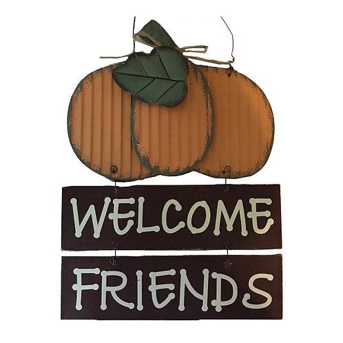 Fall Welcome Friends Pumpkin Sign