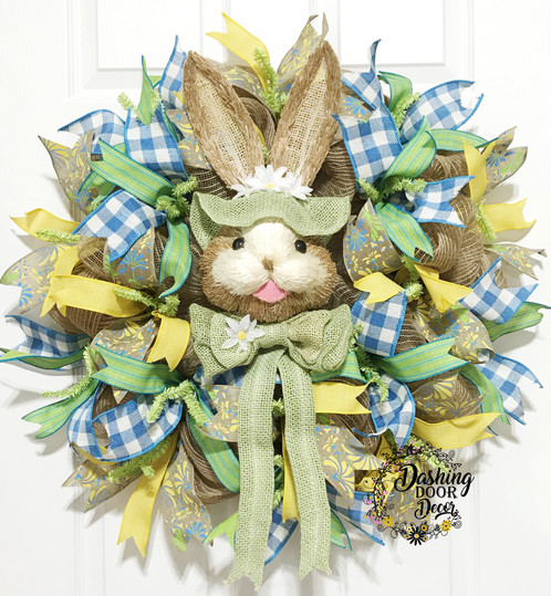 Facebook live spring green easter bunny wreath kit diy 2 13 18 facebook live green easter bunny wreath kit diy do it yourself kit solutioingenieria Gallery