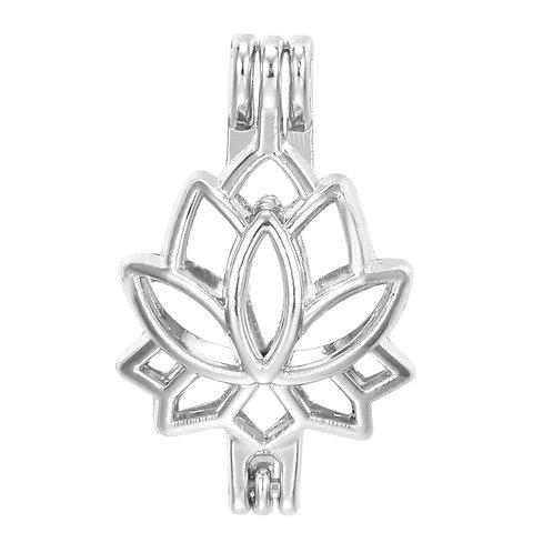 Lotus Flower Pearl Pendant