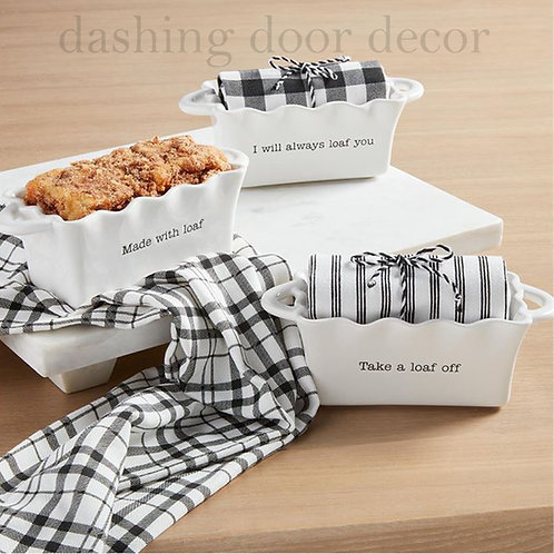 Mini Loaf Pan with Tea Towel by Mud Pie
