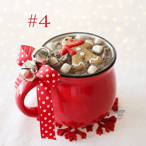 Hot Cocoa Farmhouse Holiday Mug w/ Faux Hot Cocoa for Display