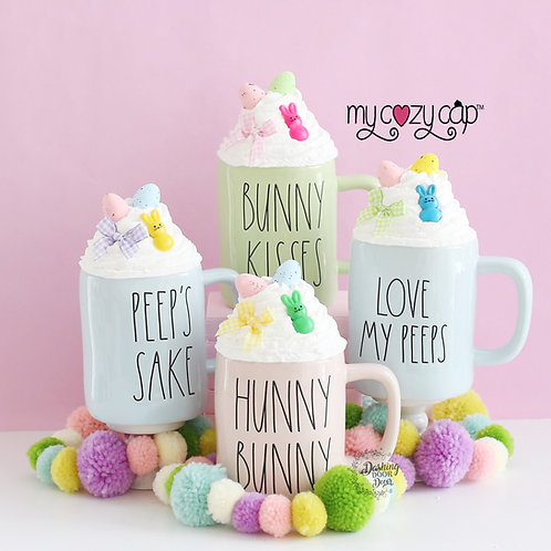 My Cozy Cap™ Easter Peeps Faux Whip Mug Topper Fits Rae Dunn Mug