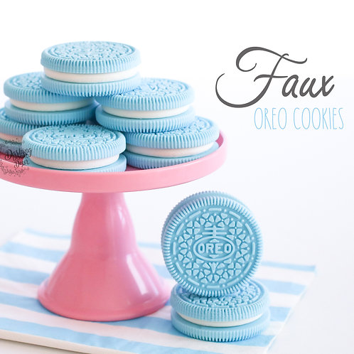 Faux Blue Oreo Cookies for Display