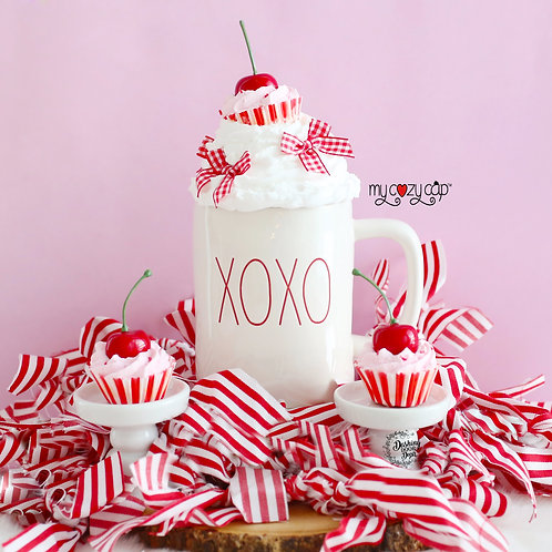 My Cozy Cap™ Cupcake Faux Whip Mug Topper fits Rae Dunn Mugs