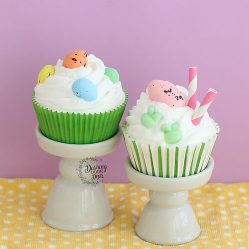 Fake Easter Eggs Cupcakes for Display