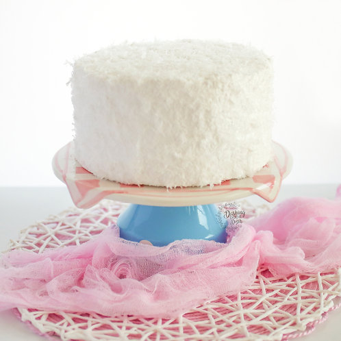 Faux Coconut Cream Cake for Display