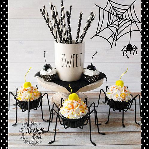Fake Halloween Candy Corn Cupcakes Decor/Display