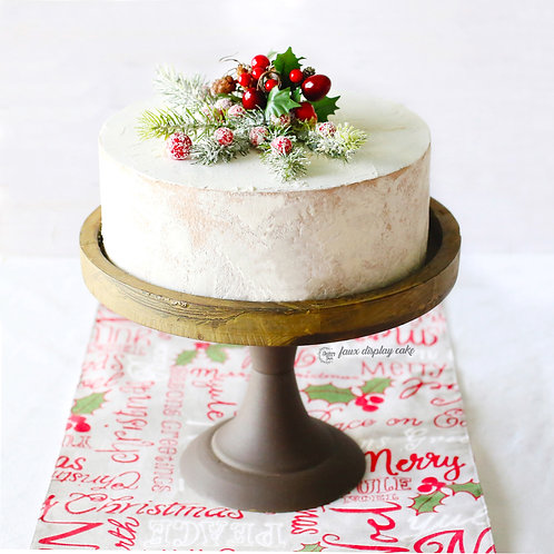 Faux Winter Berry Naked Christmas Cake for Display/Decor