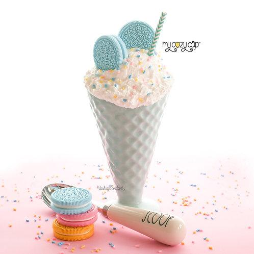 My Cozy Cap™ Faux Whip Topper fits Ceramic Ice Cream Sundae Dish