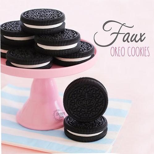 Fake Chocolate Oreo Cookies for Display