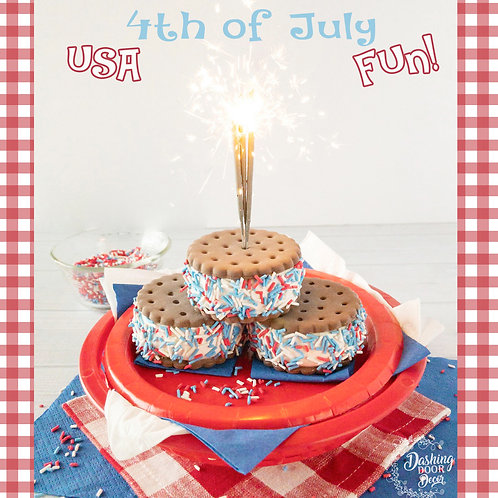 Fake Patriotic Ice Cream Sandwich for Decor/ Display