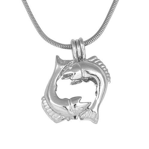 Pisces Zodiac Pearl Pendant