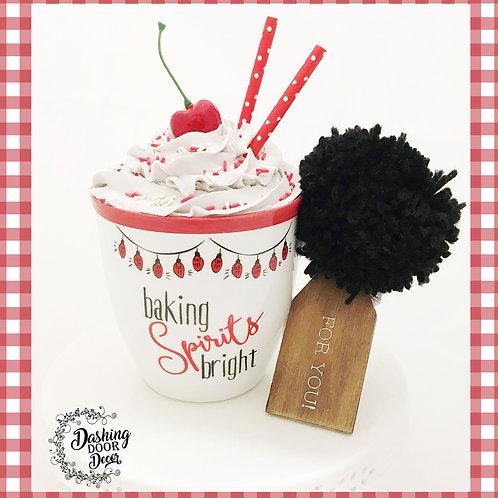 Fake Food Hot Cocoa Christmas Baking Spirits Bright Mug