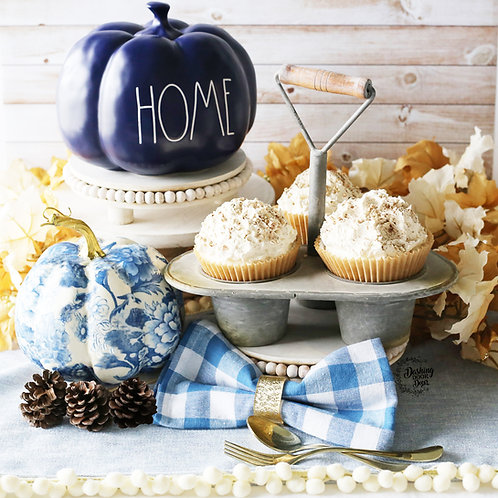 Fake jumbo PUMPKIN SPICE Cupcakes for Tiered Tray Decor/ Display