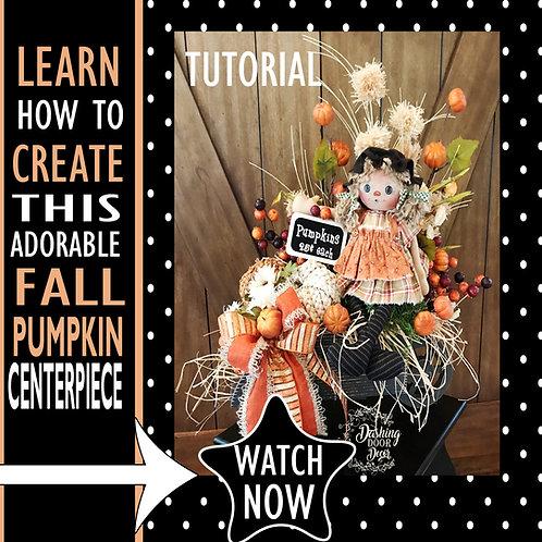 "DIY Tutorial - ""Annie"" Fall Floral Pumpkin Wagon Centerpiece"