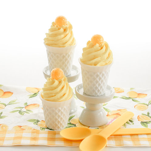 Faux Mini Lemon Drop Ice Cream Cone Cups