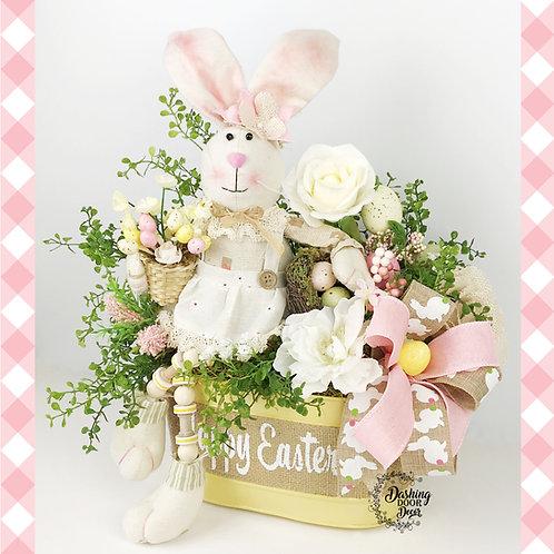 Spring - Easter Bunny Floral Tabletop Centerpiece Arrangement