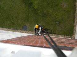 Doddington Aerials install satellite tv system using Rope Access (27)