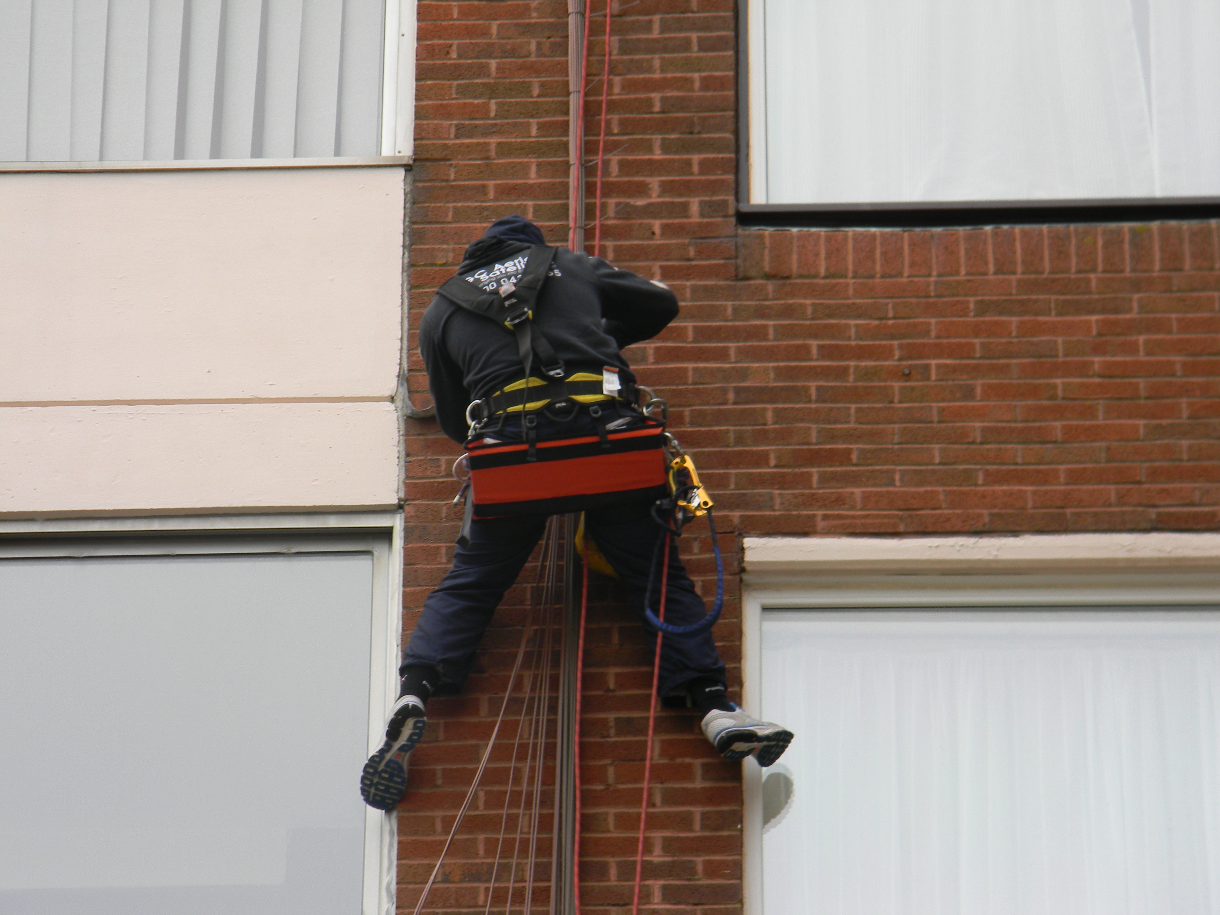 Doddington Aerials install satellite tv system using Rope Access (30)