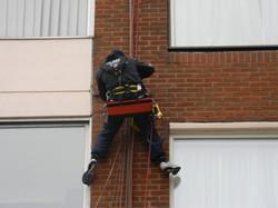 Doddington Aerials install satellite tv system using Rope Access (30)