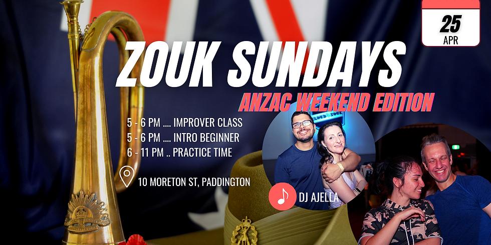 Zouk Sundays & Practica | Anzac Weekend Edition