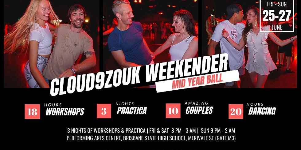 Cloud9Zouk Weekender | Mid Year Ball  Workshops & Practica