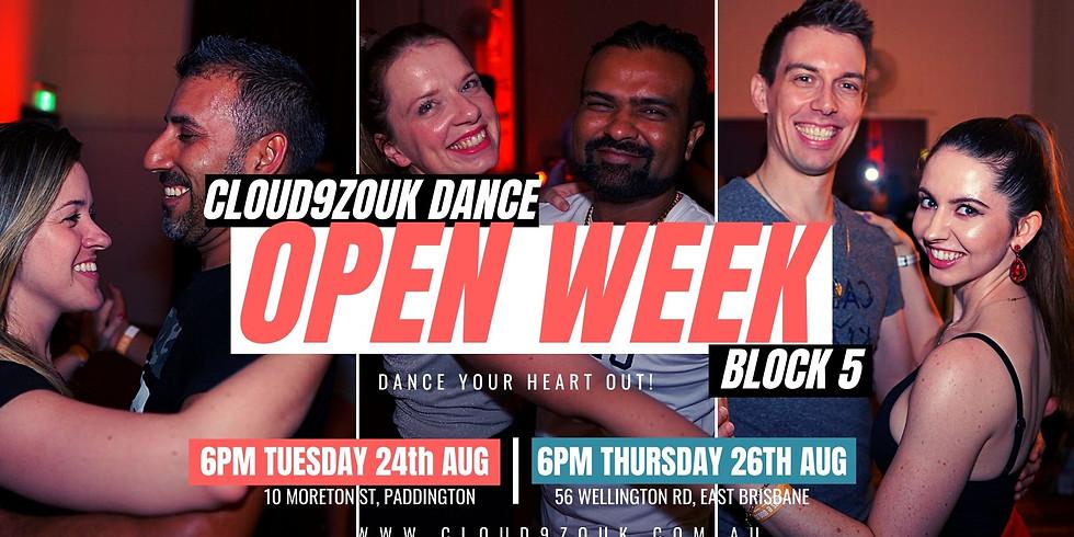 Open Week B5 Southside   Thur 26th Aug