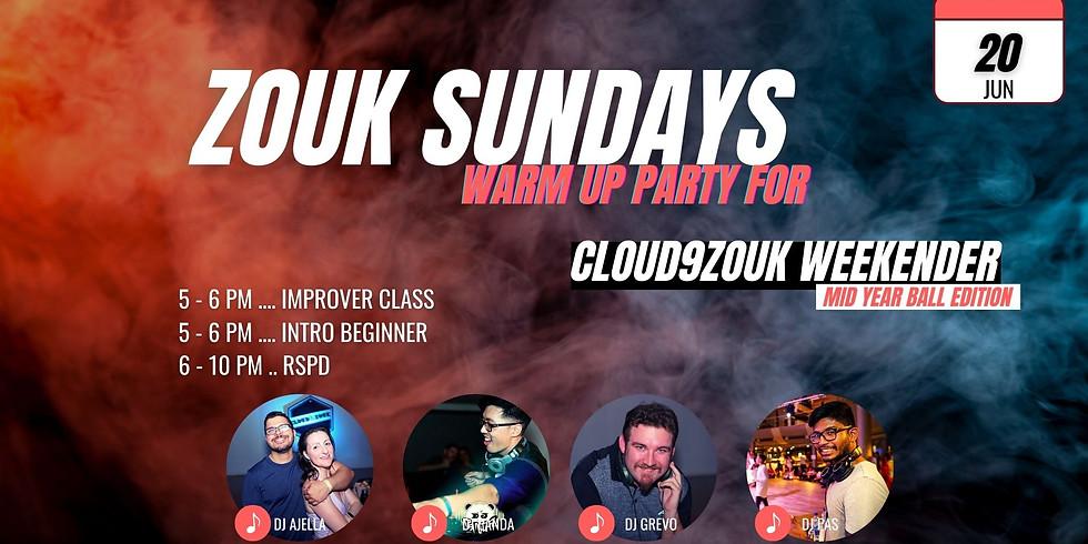Zouk Sundays | C9Z Weekender Warm Up Party