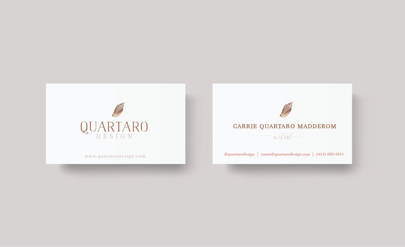 Seashell Artist Business Cards
